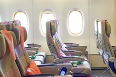 Emirados Airbus A380 Foto de Stock Royalty Free