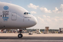Emirados Airbus A380-800 Imagens de Stock