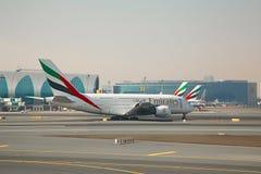 Emirados Airbus A380 Imagem de Stock Royalty Free