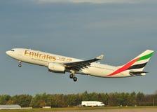 Emirados Airbus A330 Fotografia de Stock