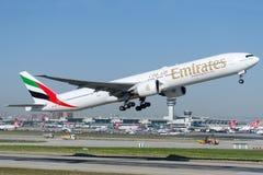 Emirados de A6-EBV, Boeing 777-31HER Fotografia de Stock