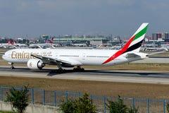 Emirados de A6-ECL, Boeing 777-36N (ER) Foto de Stock Royalty Free