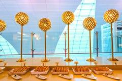 Emirat klasy business hol Zdjęcia Royalty Free