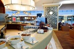 Emirat klasy business holu wnętrze Obrazy Stock