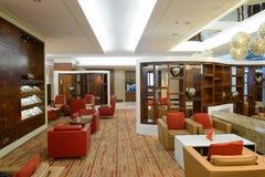 Emirat klasy business holu wnętrze Fotografia Stock