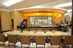 Emirat klasy business holu wnętrze Obraz Stock