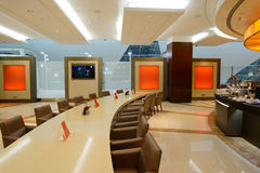 Emirat klasy business holu wnętrze Zdjęcie Stock