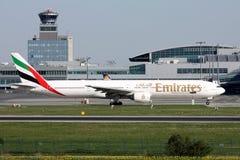 Emirat linie lotnicze Boeing B777 Zdjęcia Royalty Free