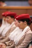 Emirat linii lotniczej steward przy Billie Cajgowego królewiątka Krajowym tenisem Ześrodkowywają podczas us open 2013 Obraz Stock