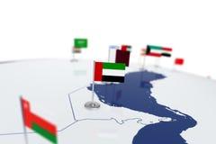 emirat najważniejszym arabskiej flagę Ilustracji