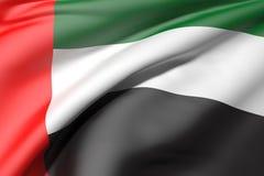 emirat najważniejszym arabskiej flagę Zdjęcie Stock