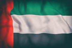 emirat najważniejszym arabskiej flagę Zdjęcia Stock