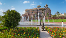 Emirat-Palast in Abu Dhabi Lizenzfreie Stockfotografie