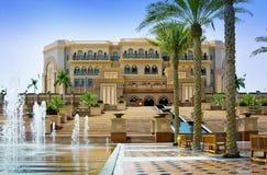 Emirat-Palast in Abu Dhabi am 5. Juni 2013 Lizenzfreie Stockfotos