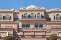Emirat-Palast-Hotel in Abu Dhabi, UAE Stockbilder