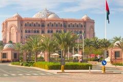 Emirat-Palast-Hotel in Abu Dhabi, UAE Stockfotos