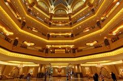 Emirat-Palast-Hotel-Innenraum, Abu Dhabi Lizenzfreie Stockfotografie