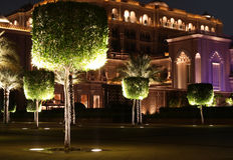 Emirat-Palastgarten. Abu Dhabi Stockfoto