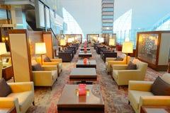 Emiratbusiness-class-Aufenthaltsraum stockbilder