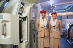 Emiraten A380 stock foto