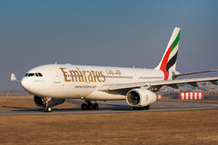 Emirater A330 Arkivfoto