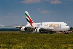 Emirater A380 Royaltyfri Foto
