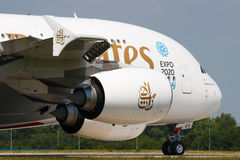 Emirater A380 Royaltyfria Foton