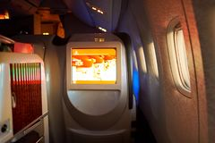 Emirater Boeing-777 Arkivbild