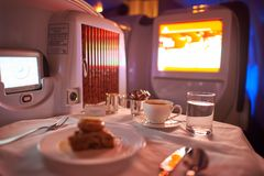 Emirater Boeing-777 Royaltyfria Foton