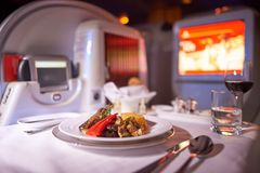Emirater Boeing-777 Arkivfoto
