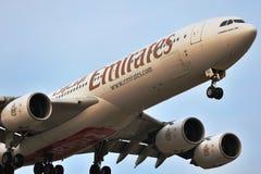 Emirater för flygbuss a340-500 Arkivfoton