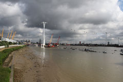 The Emirates Air Line cable car London Royalty Free Stock Images