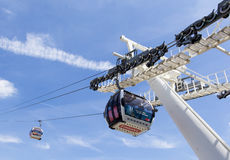 Emirates Air Line cable car, London Royalty Free Stock Image