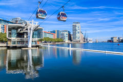 The Emirates Air Line or Thames Cable Car stock photography
