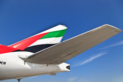 Emirates airbus 330 Royalty Free Stock Photo