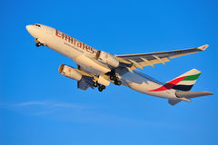 Emirates Airbus A330 Royalty Free Stock Image