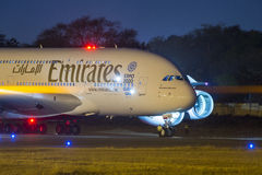 Emirates Airbus 380 Aircraft Stock Photo