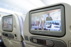 Emirates Airbus A380 aircraft interior Stock Image