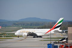 Emirates Airbus a380 aircraft Royalty Free Stock Photo