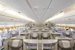 Emirates Airbus A380 business class interior Stock Image