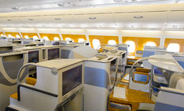 Emirates Airbus A380 business class interior Royalty Free Stock Image