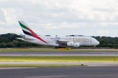 Emirates A380 Royalty Free Stock Photo