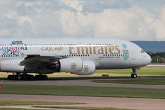 Emirates A380 Royalty Free Stock Photography