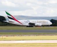 Emirates A380 Stock Photo