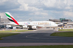Emirates A380 Royalty Free Stock Images