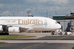 Emirates A380 Royalty Free Stock Photos