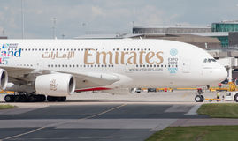 Emirates A380 Royalty Free Stock Image