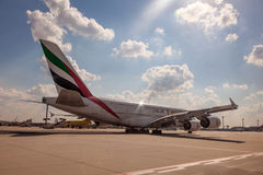 Emirates Airbus A380-800 Stock Photo