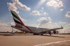 Emirates Airbus A380-800 Stock Photo