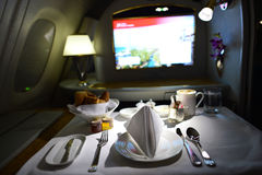 Emirates Airbus A380 interior Stock Image